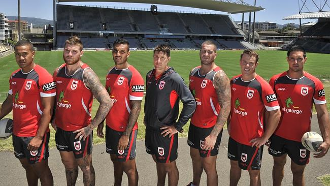 Dragons players Kyle Stanley, Josh Dugan, Dylan Farrell, Gareth Widdop, Joel Thompson, Sam Williams and Gerard Beale are ready for a big 2014 season.