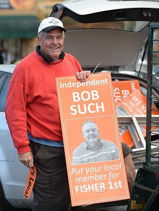 Re-elected independent MP for Fisher, Bob Such. Picture: Naomi Jellicoe