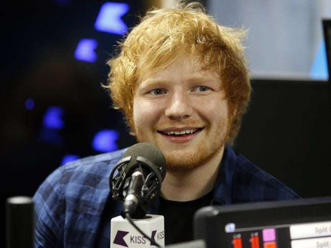 Ed Sheeran visits England's Kiss FM. Picture: Alex Huckle/Getty Images