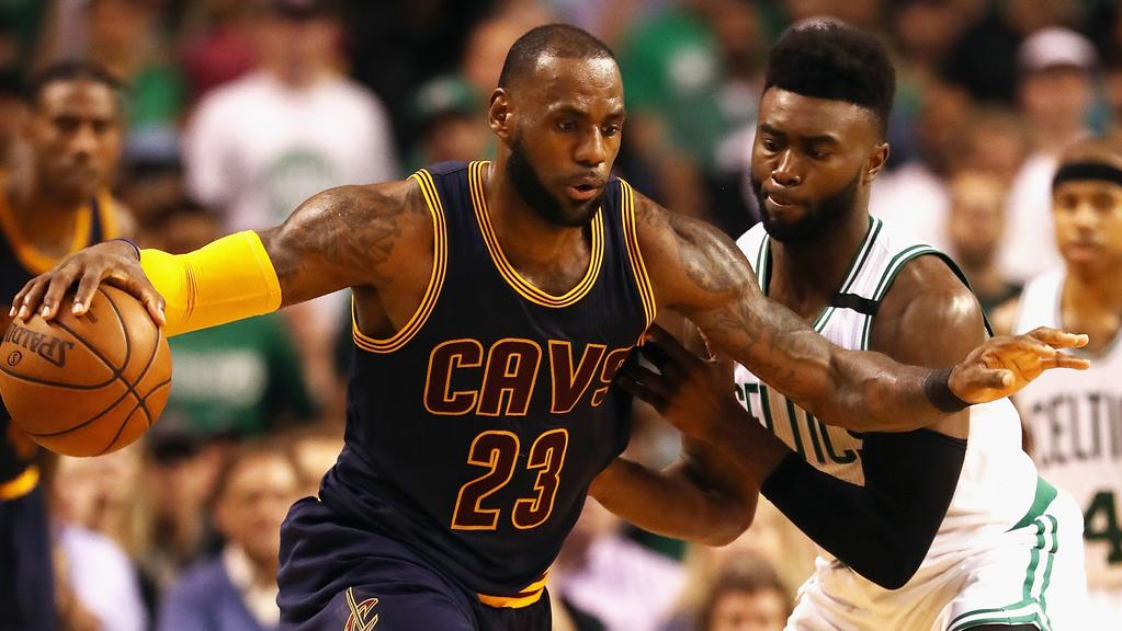 LeBron James against the Boston Celtics in Game 1.