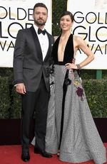 Justin Timberlake and Jessica Biel attend the 74th Annual Golden Globe Awards at The Beverly Hilton Hotel on January 8, 2017 in Beverly Hills, California. Picture: AFP