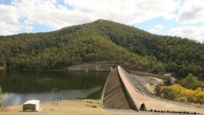 File picture of Borumba Dam, where human remains have been found inside a submerged vehicle.