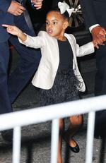 Jay-Z takes Blue Ivy Carter out to her first public event ever in New York City at the CFDA Awards in 2016. Picture by: Jackson Lee / Splash News