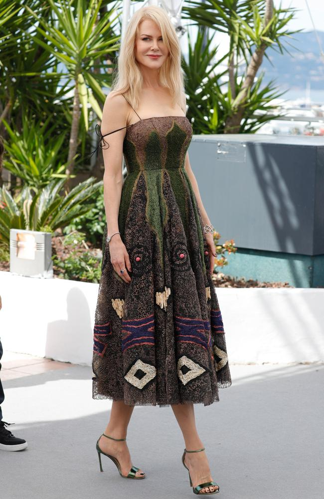 One of Nicole Kidman's most stunning recent looks, a Dior frock at Cannes in May.