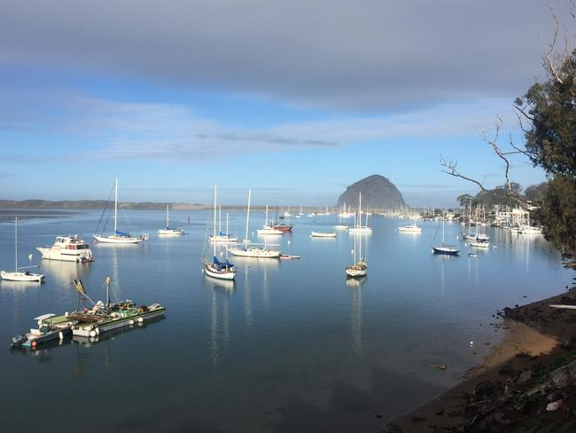 The famous Morro Rock, as seen from the Inn At Morro Bay.