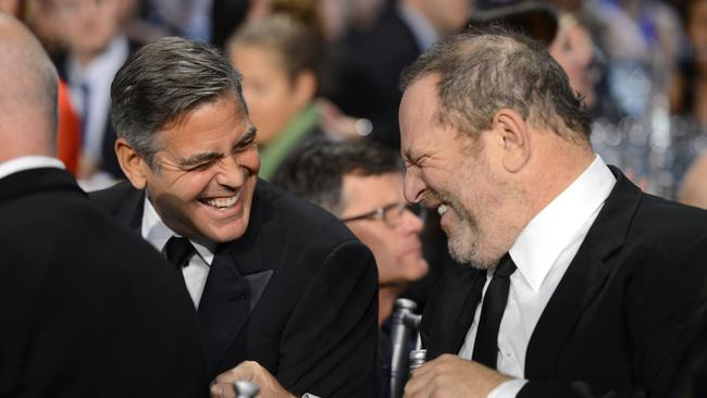 George Clooney and Weinstein attend the Critics' Choice Movie Awards 2013 in Santa Monica, California. Picture: Michael Kovac / WireImage.
