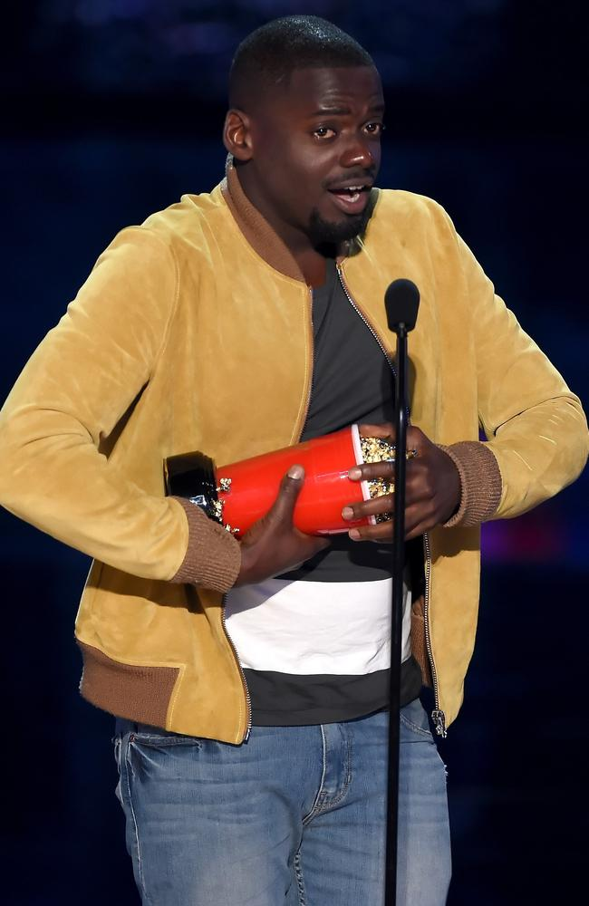 Actor Daniel Kaluuya accepts the Next Generation award for Get Out at the 2017 MTV Movie And TV Awards. Picture: Kevin Winter