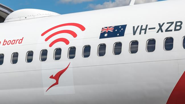 Wired for Wi-Fi: Qantas unveils free service on a mystery flight above New South Wales Picture: Kurt Ams