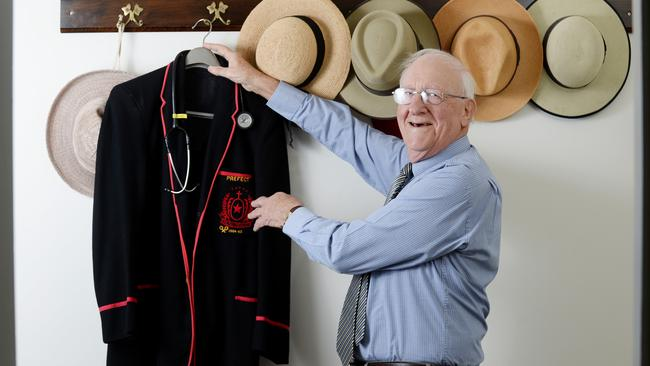 Dr Bernard Cormie, 84, is retiring after more than 40 years at Brooker Medical Clinic in Campbelltown. Picture: Naomi Jellicoe