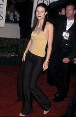 Is it the 90s? Not quite. 2000, in fact. A glum looking Gwyneth Paltrow looks like she's going clubbing instead of the 2000 Golden Globes. Picture: Ron Galella, Ltd./WireImage