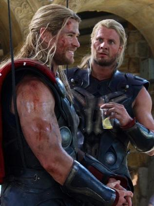 Stuntman Bobby and Hemsworth film Thor: The Dark World. Picture: Bobby Holland Hanton