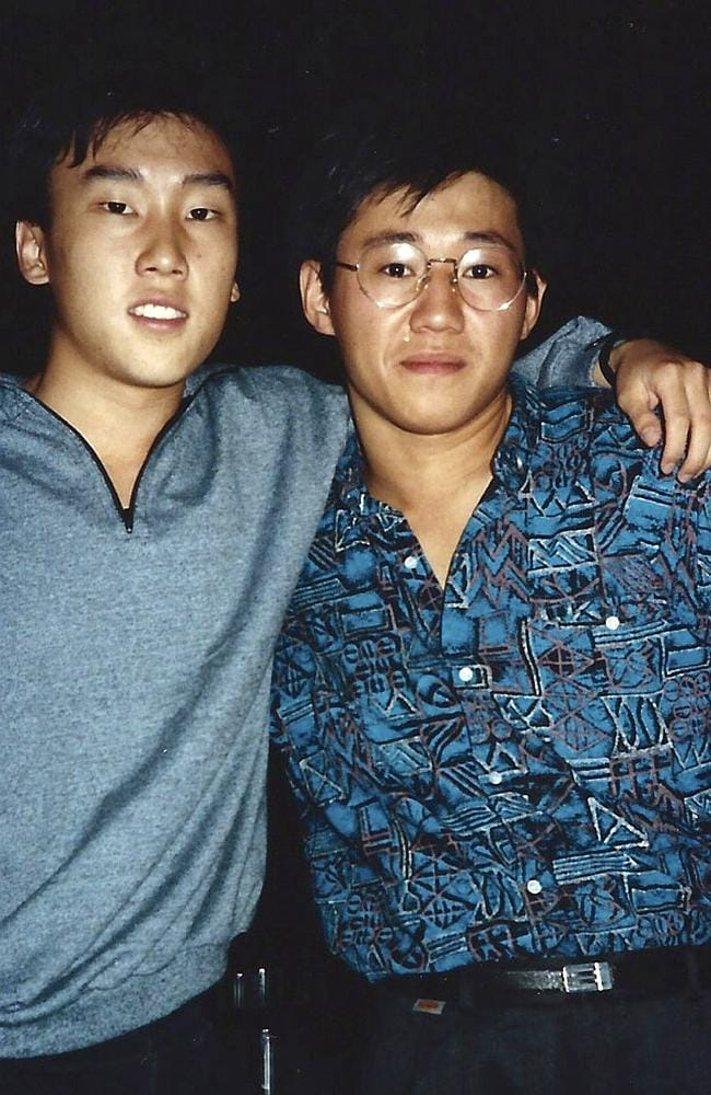 This 1988 file photo shows Kenneth Bae, right, and friend Bobby Lee together when they were freshmen students at the University of Oregon.