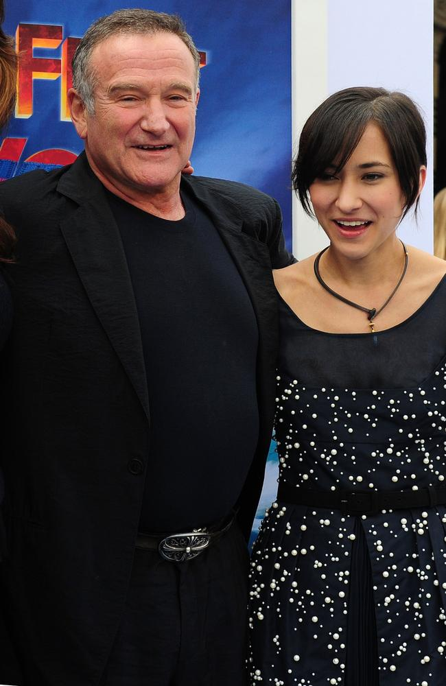 Great love between the pair ... Robin Williams and his daughter Zelda. Picture: AFP