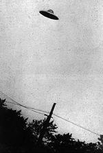 <p>1952 photo of a UFO over Passaic, New Jersey, US, from an FBI document.</p>