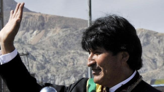 Accused of dirty tricks ... Bolivian President Evo Morales. Picture: AFP PHOTO / Aizar Raldes