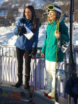 Mel McLaughlin interviews Torah Bright at the Sochi Winter Games.