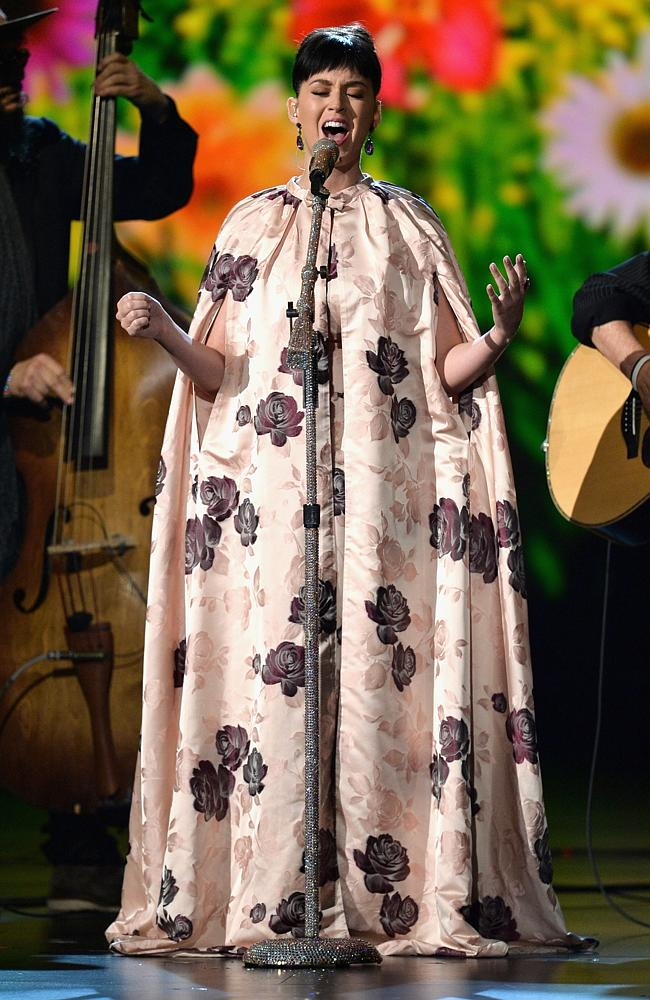 "Katy Perry performs onstage during ""The Night That Changed America: A GRAMMY Salute To The Beatles"". Picture: Getty"