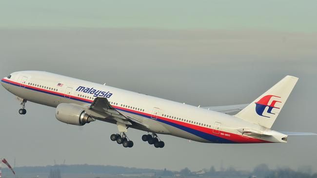 Vanished three months ago ... the Malaysia Airlines jet. Picture: AP/Laurent Errera