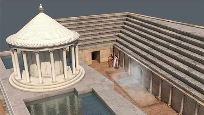 "A recreation of the ""Pluto's Gate"" temple and auditorium complex in Turkey. Picture: Francesco D'Andria"