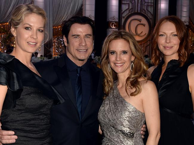 You can't sit with us ... Jenna Elfman, John Travolta, Kelly Preston and Laura Prepon are all well-known Scientologists. Picture: Getty