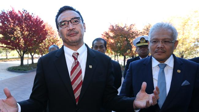 Grief ... Malaysia's Defence Minister Hishammuddin Hussein says he feels the pain of the families.