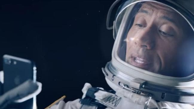 The short film Rock & Siri features space selfies. Picture: SuppliedSource:Supplied
