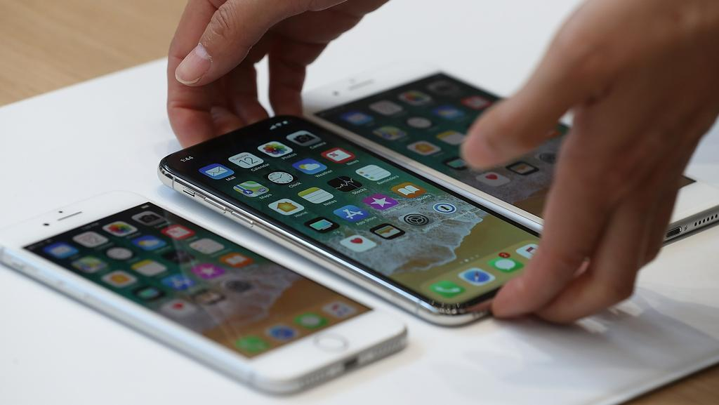 Apple's new iPhone 8 and 8 Plus, due for release in Australia this Friday, feature a slew of upgrades, though many are incremental. Picture: Justin Sullivan/Getty Images/AFP