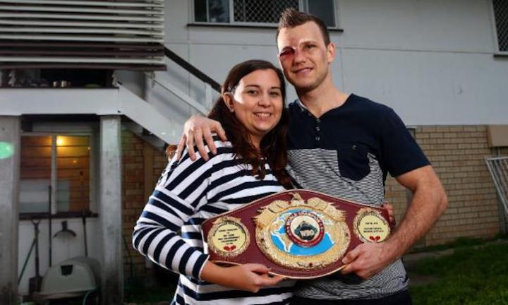 Aussie boxing champ Jeff Horn and wife Jo welcome baby