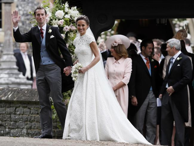 Mr And Mrs Matthews Pippa Middleton James Smile For The Cameras