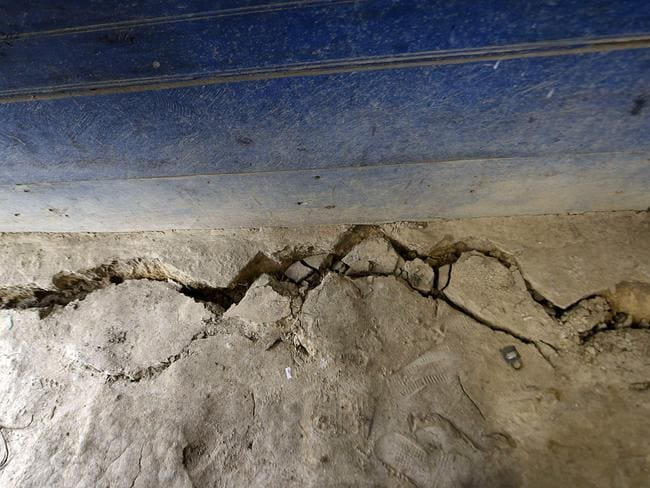 A crack in the ground caused by the earthquake, which mainly hit Mexico. Picture: AFP