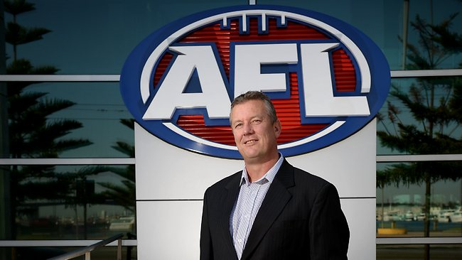 AFL football operations manager, Mark Evans, is authorised to issue infraction notices to players if he believes it is warranted following the report from ASADA and recommendations from the ADRVP. Picture: Colleen Petch