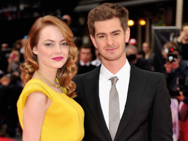 Emma Stone is notoriously guarded about her relationship with Spider-Man co-star Andrew Garfield. Photo: Gareth Cattermole/Getty Images