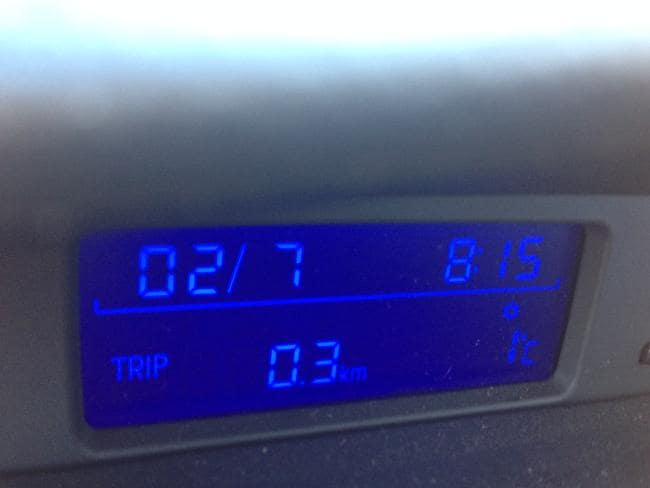 The temperature at Rangeville in Toowoomba. Pic: Grace Callan