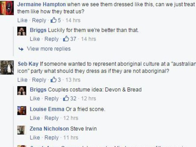 Some of the comments the Aussie entertainer received. Picture: Screengrab.