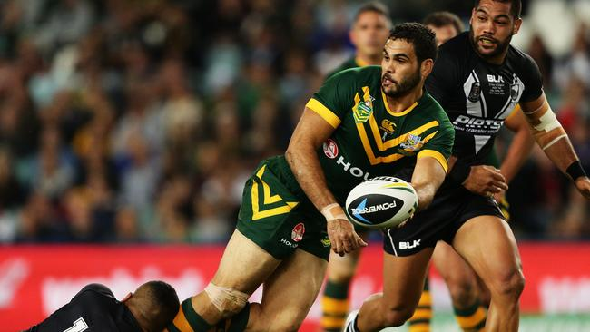 Australia's Greg Inglis during the rugby league Test against New Zealand.