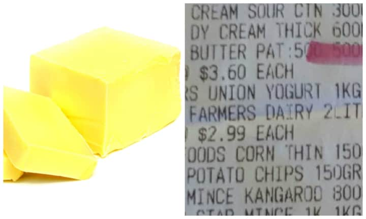 Customer calls Coles out on massive increase of butter in just one week