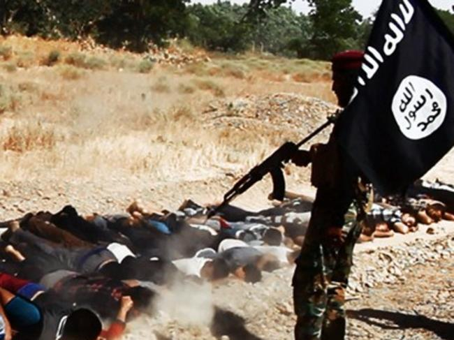 The disturbing images were posted on Twitter and the Welayat Salahuddin website by ISIS.