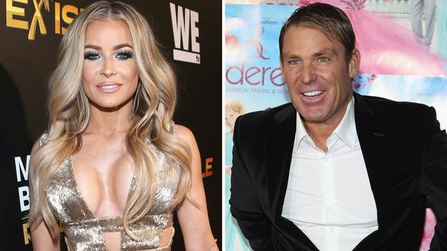 Shane Warne hopes to take things slow with Carmen Electra. Picture: Jonathan Leibson/Getty