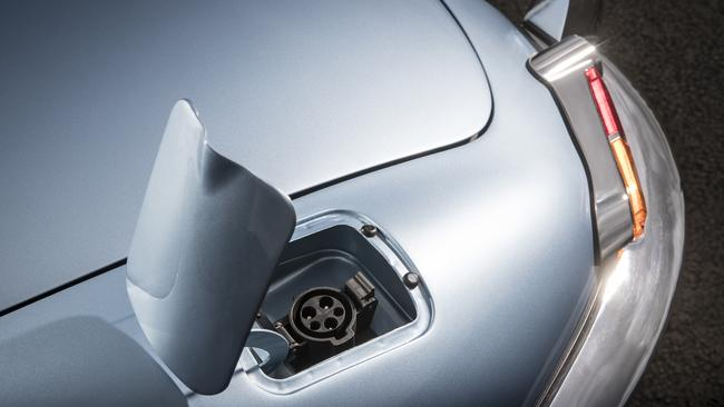 A charge point takes the place of the fuel filler. Picture: Supplied.