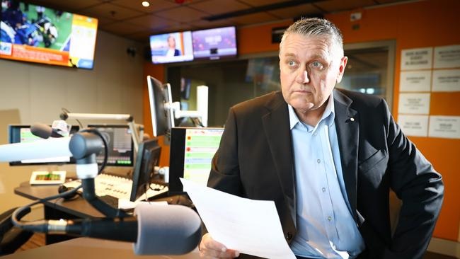 Ray Hadley 2GB talk back radio host waded into the row. Picture Renee Nowytarger