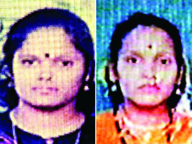Serial killer sisters Seema Gavit (left) and Renuka Shinde (right) are fighting against becoming the first women to be executed in India in 72 years.
