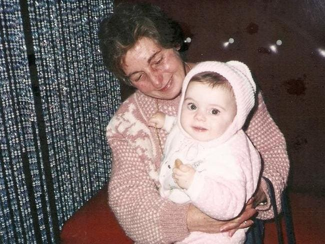Laura Angius with her grand daughter, Gabrielle 17 years ago. Picture: Supplied.