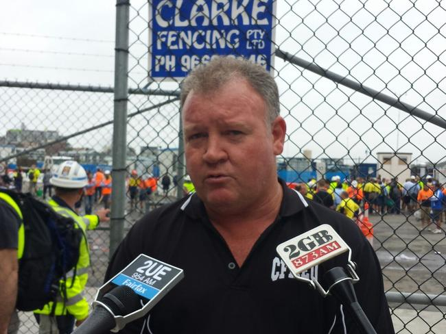 CFMEU State Secretary Brian Parker who has been accused of turning a blind eye to a death threat to a member.
