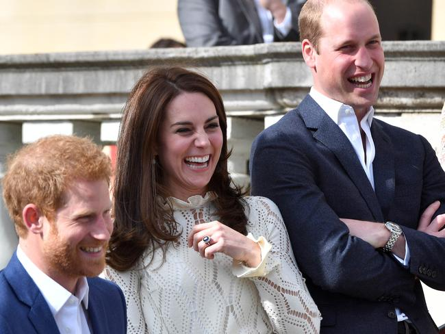 Prince Harry, Catherine, Duchess of Cambridge and Prince William, Duke of Cambridge have thrown their weight behind a mental health awareness campaign. Picture: Andrew Parsons — WPA Pool/Getty Images
