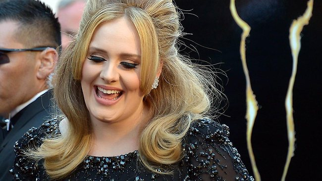 Singer Adele arrives to the Oscars. Picture: AFP