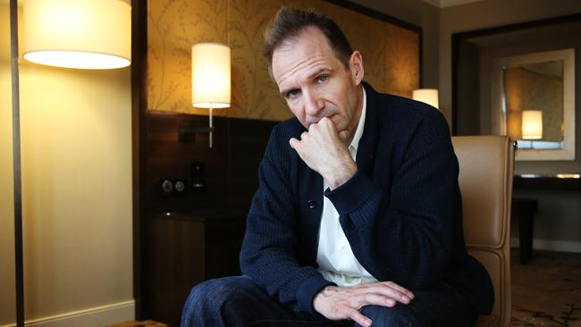 Actor Ralph Fiennes, pictured here judging you for mispronouncing his name. Picture: Toby Zerna