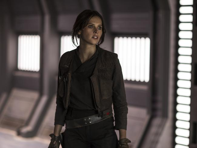 "Felicity Jones as Jyn Erso in a scene from, ""Rogue One: A Star Wars Story."" Picture: Lucasfilm Ltd."