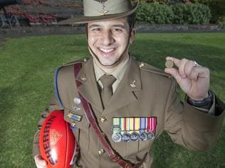 Anzac footy soldier