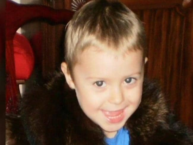 De facto killer Matthew Scown was convicted of the manslaughter of four-year-old Tyrell Cobb (above) who allegedly had 70 marks on his body. Picture: Channel 7.