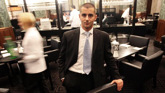Jeremy Courmadias, general manager of Rockpool Bar and Grill restaurant in Sydney's CBD.